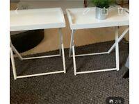John Lewis side tables white