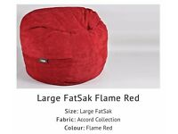 Red cord 'fat-sac' beanbags