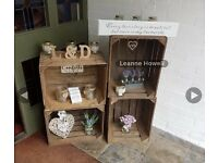 Vintage wedding crates