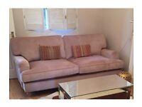 Unused Pale pink large 2 seater sofa