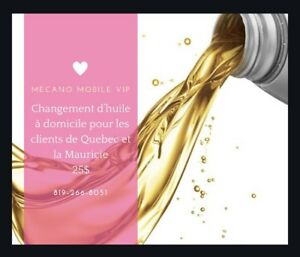 Changement d'huile à domicile • Mécano Mobile VIP