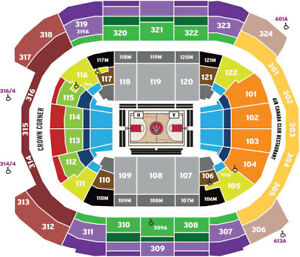 2018-19 Raptors Season Tickets: Side View Platinums