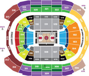 2 or 4 Raptors v Memphis Grizzlies Tickets Sat 1/19 318 row 6