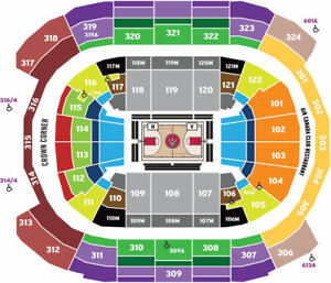 2 or 4 Toronto Raptors vs Miami Heat Tickets Sun 4/7 318 row 6