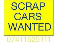 07411525111 WANTED CARS JEEPS VANS SCRAP CARS NON RUNNERS SELL YOUR CAR SPARES OR REPAIR CASH 1 HO