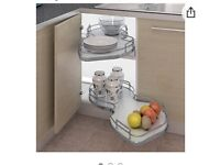 Nuvola corner pull out shelving unit.