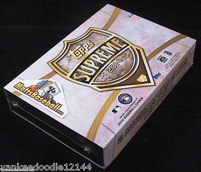 Купить 2014 TOPPS SUPREME BASEBALL FACTORY SEALED HOBBY BOX PACK (2 AUTOGRAPHS)