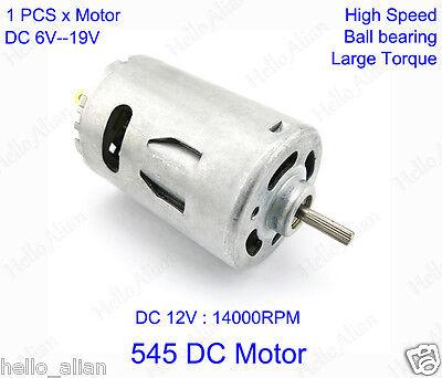 Dc 6v 9v 12v High Speed Power Ball Bearing Dc Brush 545 Motor For Toy Model Diy