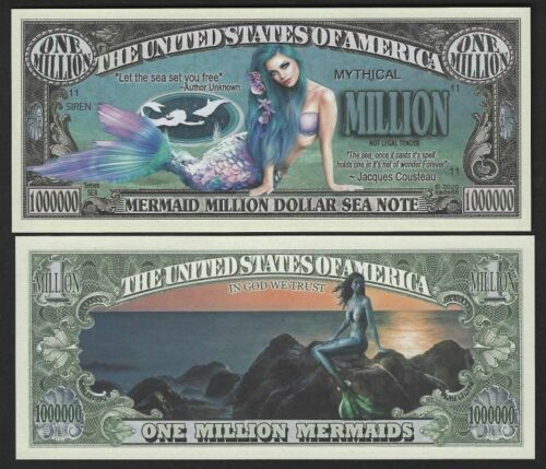 Lot of 100 BILLS - Mermaid Million Dollar Sea Note Mythical Million