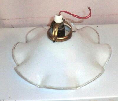 antike alte Jugendstil Deckenlampe Hänge Leuchte mit Glasschale