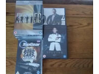 All 24 James Bond DVDs,50th birthday edition + Top Gear 50 years Bond's cars