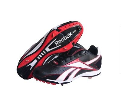 Reebok Vero IV Low MM 18-J16229 Mens Baseball Cleats Size 13.5 Black and Red 1e47147a7