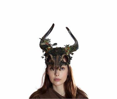 Ram Skull Mask (Large Whimsical Nature Ram Horns Skull Mask)