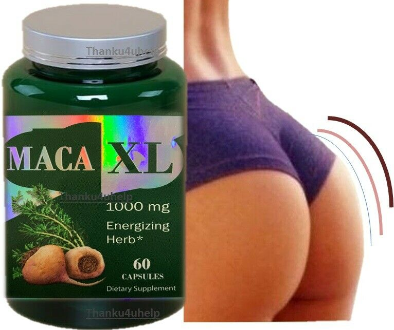 Maca Capsules Shape Buttocks Bigger Butt Booty Shaper SUPER MACAXL ENERGIZING 60