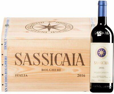 6X Sassicaia 2016 Tenuta San Guido WOOD BOX- Masseto sassicaia solaia tignanello