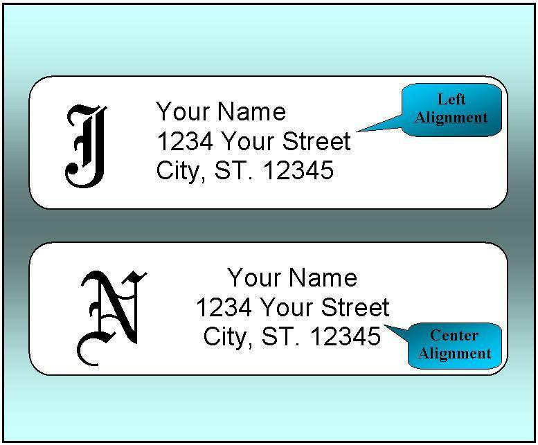 800 Personalized Return Address Labels.  1/2 x 1.75 Inch Monogrammed Labels.