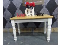 Reclaimed Pitch Pine 4 Foot Farmhouse Table Shabby Chic - UK Delivery