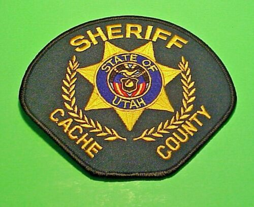 "CACHE COUNTY  UTAH  UT  SHERIFF  4 1/4"" x 5"" POLICE PATCH  FREE SHIPPING!!!"