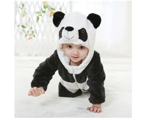 baby boy girl panda halloween fancy dress party costume outfit clothes playsuits ebay. Black Bedroom Furniture Sets. Home Design Ideas