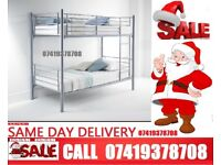 Single and Double Metallic Bunk Bed Available with Mattresses
