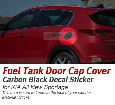 Fuel Tank Cap Cover Carbon Black Decal Sticker Mask for KIA 2017-18 Sportage QL