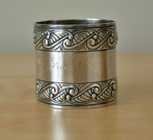 Gorham Sterling Silver Large Ornate Napkin Ring