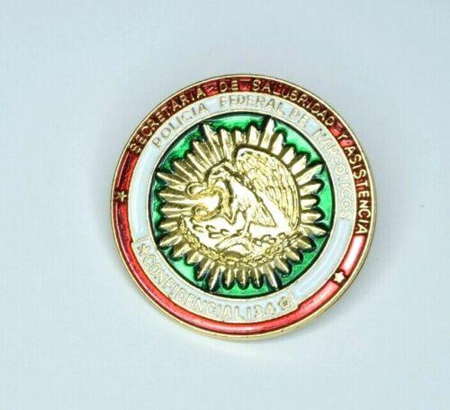 POLICIA FEDERAL DE NARCOTICOS Mexico Narcotics Vintage Police Lapel Hat Pin