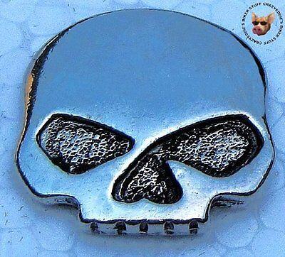 PEWTER SKULL VEST JACKET PIN * MADE IN USA  * FREE USA SHIP * MOTORCYCLE BIKER