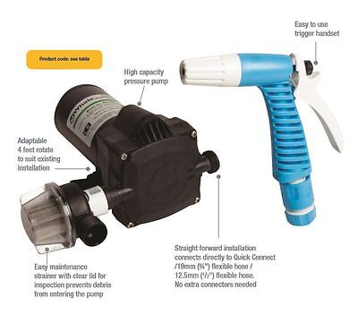 New WHALE UNIVERSAL PRESSURE PUMP WASHDOWN KIT WD1815 PUMP 12 Volt BLA 133290