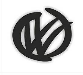 VW graffiti logo stickers x2