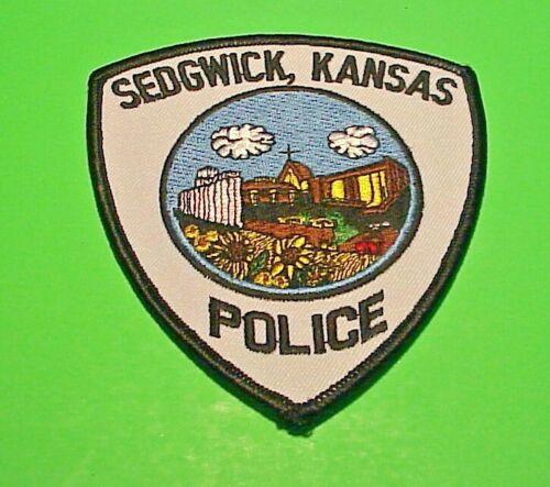 "SEDGWICK  KANSAS  KS  POLICE PATCH  4 1/2""   FREE SHIPPING!!!"