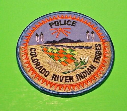 """COLORADO  RIVER INDIAN TRIBES  TRIBAL  4""""  POLICE PATCH FREE SHIPPING!!!"""