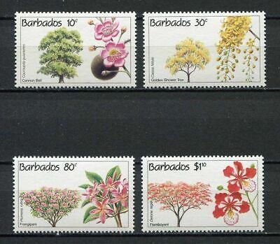 28423) Barbados 1992 MNH Nuevo Flowers Flores 4v