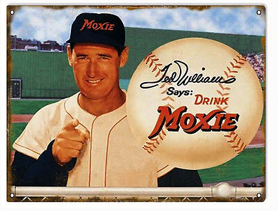 Ted Williams Drink Moxie Nostalgic Reproduction Sign