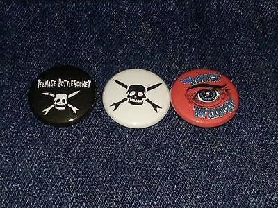 "Teenage Bottlerocket set of 3 1"" inch button pin back"