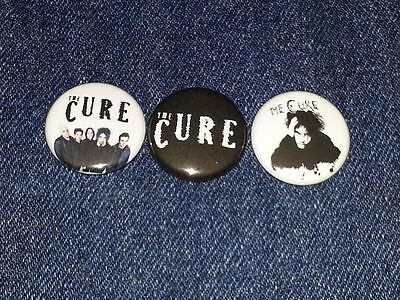 """The Cure set of 3 1"""" button pin back"""