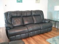 3 PIECE RECLINING LEATHER SUITE