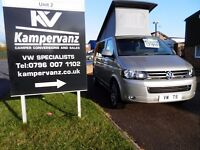 STUNNING 2015 VW T5 METALLIC SAND HIGHLINE SWB WITH TAILGATE CAMPERVAN WITH A/C + MORE