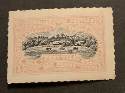 Early New Hebrides Port Villa 1d Stamp Interisland Postage