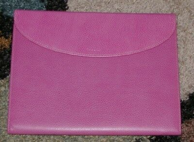 Filofax Finsbury A4 Trifold Folder Pink Grained Leather Model 827315