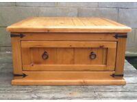Solid chunky pine coffee table