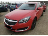 Vauxhall insignia. Bonnet. Red. Breaking spares parts