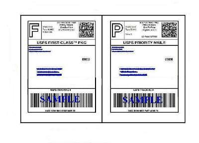 100 Self Adhesive 8.5 X 11 Shipping Labels For Ups Usps Fedex Paypal Free Ship