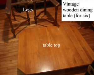 Vintage wooden dining table (HEAVY!)