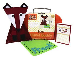 New Makemee Woodland Friends Make Your Own Cushion Fox Kids Craft Ages 3 +