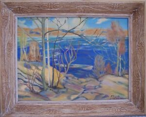 oil painting - copy of Tom Thomson's Spring Ice by E. Nicoll