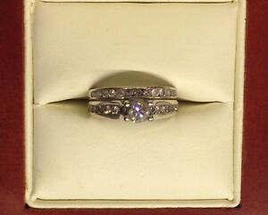 Beautiful engagement ring and wedding band