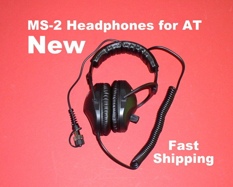 Garrett MS-2 Headphones  to use with your AT Metal Detector * Fast FREE Ship