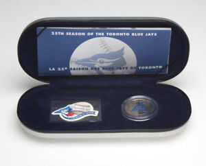 25th Season Of The Blue Jays Commemorative Set, stamp and coin