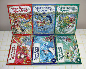 Série complète manga Magic Knight Rayearth (6 volumes)